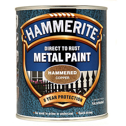 Image for Hammerite Direct To Rust Hammered Copper Metal Paint - 750ml from StoreName