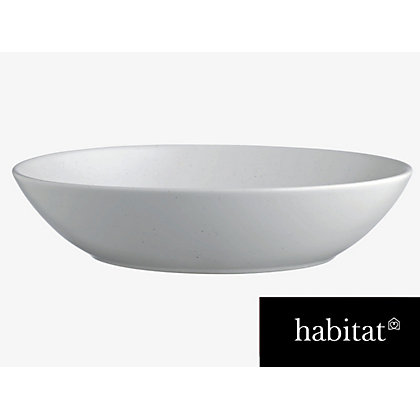 Image for Habitat Galets Off white Pasta Bowl - 22.5cm from StoreName