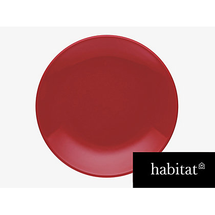 Image for Habitat Couleur Dinner Plate- Red from StoreName