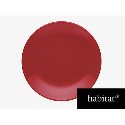 Image for Habitat Couleur Side Plate- Red from StoreName