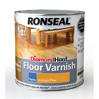 Image for Ronseal Diamond Hard Floor Varnish Antique Pine - 2.5L from StoreName