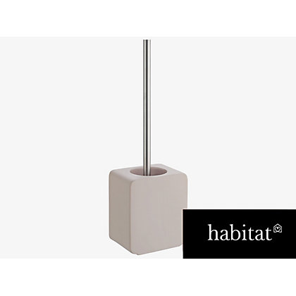 habitat brody grey toilet brush holder at homebase be inspired and make your house a home. Black Bedroom Furniture Sets. Home Design Ideas