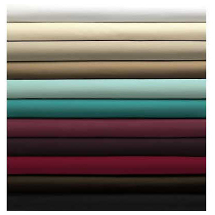 Image for Percale Fitted Sheet - Dark Red - Double from StoreName