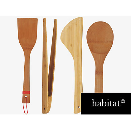 Image for Habitat Panda Set Of 4 Utensils from StoreName