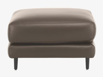 Habitat Ella Footstool Brown Leather
