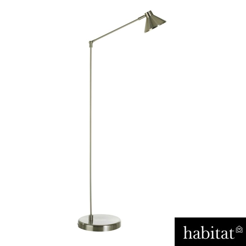 Chrome floor lamp with tapered shade silver for Chrome floor lamp with tapered shade silver