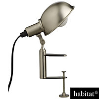 Habitat Tommy - Desk Lamp Clamp - Silver