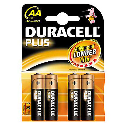 Image for Duracell Plus AA Batteries - 4 Pack from StoreName