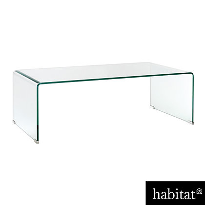 Habitat gala glass coffee table for Coffee tables habitat