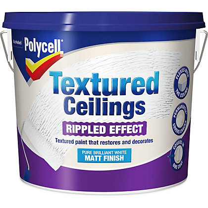 Image for Polycell Textured Ceiling Matt Rippled Finish - 5L from StoreName