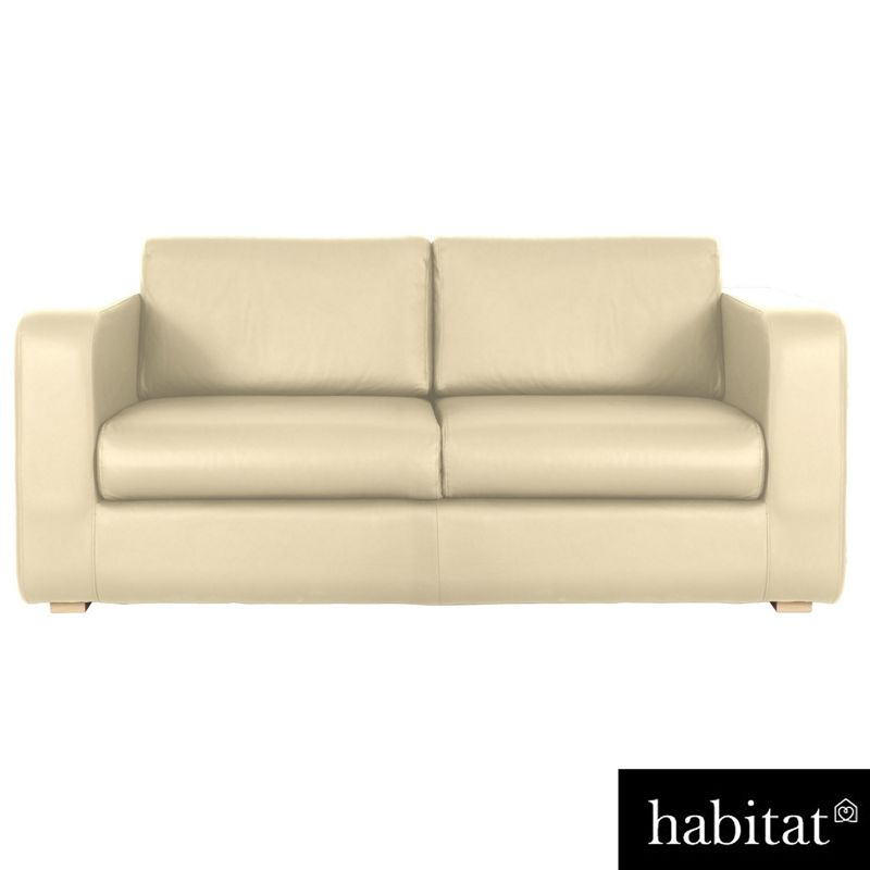 habitat porto 2 seat sofa cream. Black Bedroom Furniture Sets. Home Design Ideas