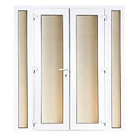 Model 6 French Door set and 2 Narrow Sidelites - 2390mm Wide 2090mm High