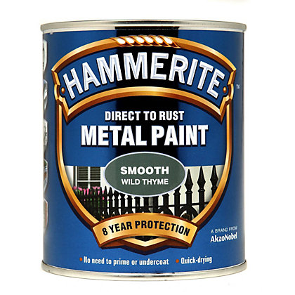 Image for Hammerite Direct To Rust Smooth Wild Thyme Metal Paint - 750ml from StoreName