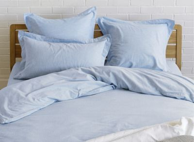 Image of Habitat Skye Duvet Cover - Blue - Single