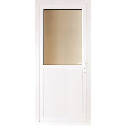 Image for Brighton Rear Door Set - Obscure Half Glazed Left Hand Hung - 920mm Wide 2085mm High from StoreName