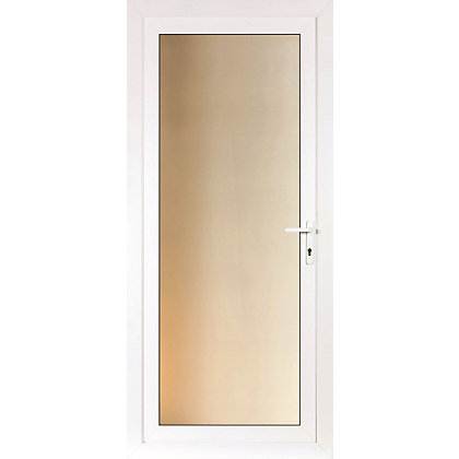 Image for Brighton Rear Door Set - Full Obscure Glass Left Hand Hung - 920mm Wide 2085mm High from StoreName