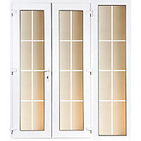 Model 4 French Door set and 1 Wide Sidelite with Georgian Bars - 1790mm Wide 2090mm High