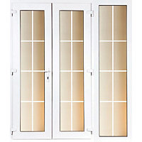 Model 6 French Door set and 1 Wide Sidelite with Georgian Bars - 2390mm Wide 2090mm High