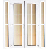 Model 4 French Door set and 2 Narrow Sidelites with Georgian Bars - 1790mm Wide 2090mm High