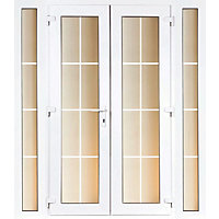 Model 6 French Door set and 2 Narrow Sidelites with Georgian Bars - 2390mm Wide 2090mm High