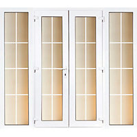 Model 4 French Door set and 2 Wide Sidelites with Georgian Bars - 2390mm Wide 2090mm High
