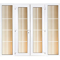 Model 5 French Door set and 2 Wide Sidelites with Georgian Bars - 2690mm Wide 2090mm High