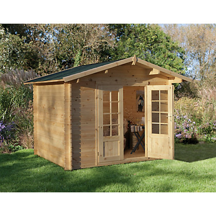Image for Forest Bradnor Log Cabin - 9ft 10in x 8ft 2 1/2in from StoreName