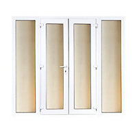 Model 4 French Door set and 2 Wide Sidelites - 2390mm Wide 2090mm High