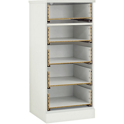 Image for Schreiber Contemporary 5 Drawer Narrow Chest - White Gloss from StoreName