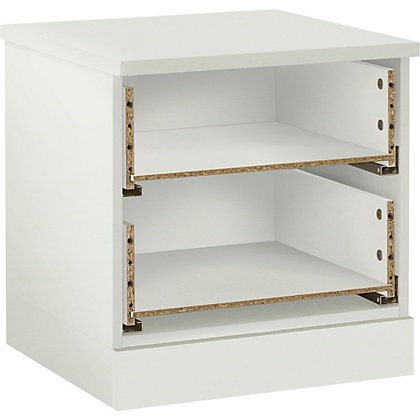 Image for Schreiber Contemporary 2 Drawer Bedside Chest - White Gloss from StoreName