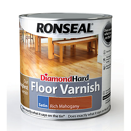 Image for Ronseal Diamond Hard Floor Varnish Rich Mahogany - 2.5L from StoreName