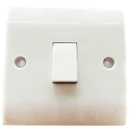 Image for One Gang Two Way Switch - White from StoreName