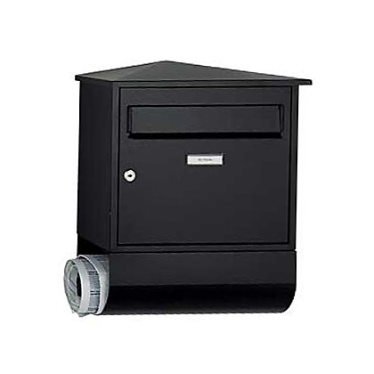 Image for Belfast Letterbox with Newspaper Holder - Black from StoreName