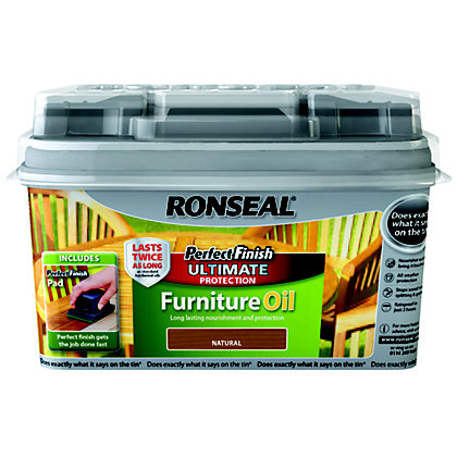Image for Ronseal Perfect Finish Garden Furniture Oil Natural - 750ml from StoreName