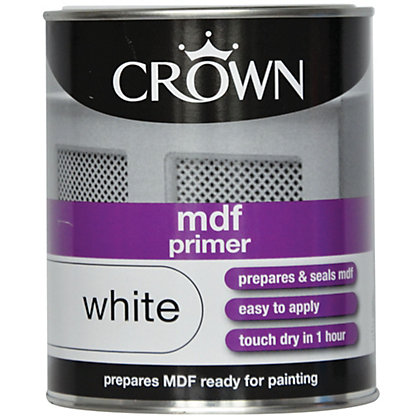 Image for Crown MDF Primer - Pure Brilliant White - 750ml from StoreName