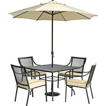 Brown outdoor living furniture set for Outdoor furniture homebase