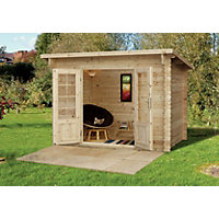 Forest Harwood Pent Roof Log Cabin - 9ft 10in x 6ft 6in