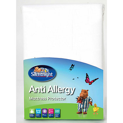 Image for Silentnight Anti-allergy Mattress Protector White - Double from StoreName