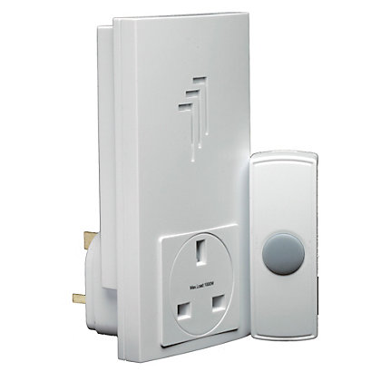 Image for Byron Db303 Wireless Plug-Thru Door Chime Kit from StoreName