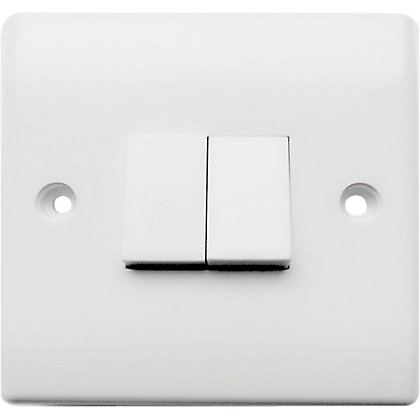 Image for Two Gang Two Way Switch - White from StoreName