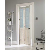 London Glazed Knotty Pine Bi-fold Internal Door - 762mm Wide