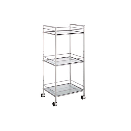 Image for Glass Shelved Bathroom Trolley - 3 Tier from StoreName