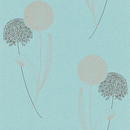 Image for Graham & Brown Essence Alium Wallpaper - Duck Egg from StoreName