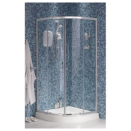 Image for Haze Quadrant Shower Enclosure and Tray - Silver - 900 x 900mm from StoreName