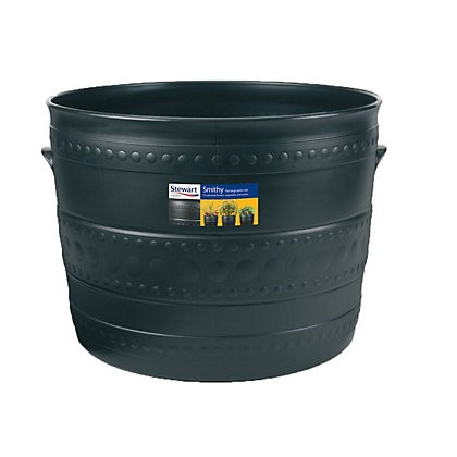Image for Plastic Patio Tub in Black - 50cm from StoreName