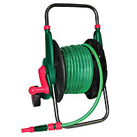 Qualcast Cart and 40m Garden Hose with Connector Set