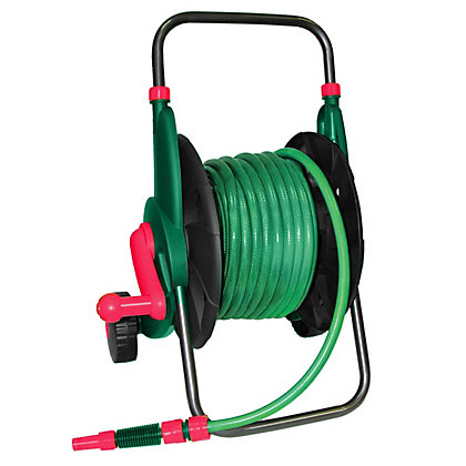 Image for Qualcast Cart and 40m Garden Hose with Connector Set from StoreName