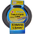 Twin and Earth Cable 1.5 sq mm 6242YH Grey 5m