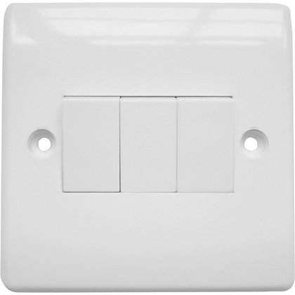 Image for Three Gang Two Way Switch - White from StoreName