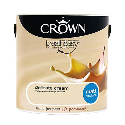 Image for Crown Breatheasy Delicate Cream - Matt Emulsion Paint - 2.5L from StoreName